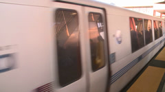 Public transit commuter train San Francisco Bay Area - stock footage