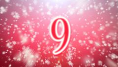 Countdown in snow falling Stock Footage