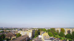 Stock Video Footage of High angle panoramic view of a residential area in a suburb of London, UK
