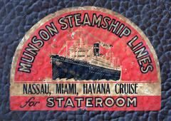 Steamship Art Deco Decal - stock photo