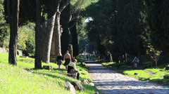 The Appian Way, Rome 11 Stock Footage