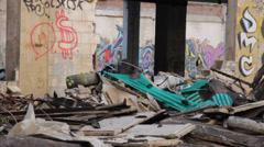 Rubble in Detroit (HD) k - stock footage