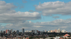 Skyline and Clouds Timelapse - City View 3 Stock Footage