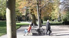 Stadtgarten in Winterthur Stock Footage