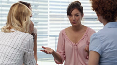 Businesswomen having a discussion after a seminar Stock Footage