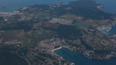 Aerial View - Flying Over Sea. Palma Mallorca, Spain. Balearic Island - 10 Stock Footage