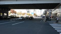 Cars in Yurakucho, Tokyo Stock Footage