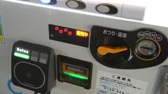 Japanese vending machine in Yurakucho, Tokyo Stock Footage
