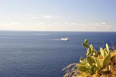 coast of korsika - stock photo