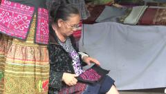 Old Lahu Hilltribe Woman In Thailand Stock Footage