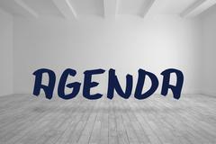Stock Illustration of Agenda written in bright room