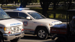 AMBULANCE AND EMERGENCY vehicles 2 - stock footage