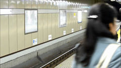 Ginza station train home, Tokyo Stock Footage
