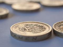 Stock Photo of british pound coin