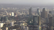 Panoramic aerial view above the city of London Stock Footage