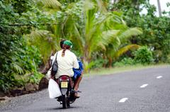 transportation in aitutaki cook islands - stock photo