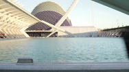 Stock Video Footage of Tourist couple looking at amazing architecture in Valencia HD