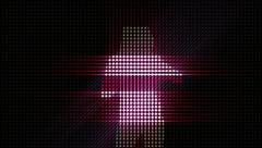 LEDS Disco Dancer 02 Stock Footage