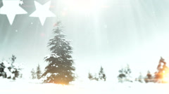 New year tree, it's snowing 2 Stock Footage
