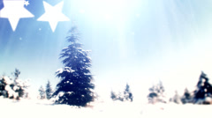 New year tree, it's snowing 5 Stock Footage
