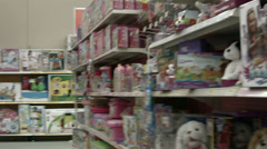Girl toys in department store HD 1108 Stock Footage