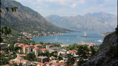View of Kotor, Montenegro - stock footage