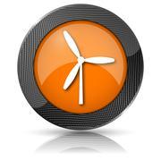 windmill icon - stock illustration