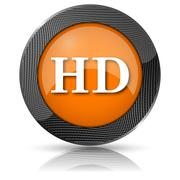 hd icon - stock illustration
