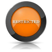 Stock Illustration of restricted icon