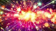 Abstract motion background, shining lights, energy waves and sparkling particles Stock Footage