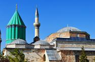 Stock Photo of mevlana museum in konya central anatolia, turkey. whirling dervishes.