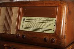 Ancient italian superheterodyne radio transistor Stock Photos