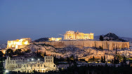 Stock Video Footage of Acropolis of Athens Timelapse