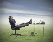 relax - stock illustration