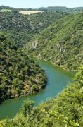 Valley of tarn (midi-pyrenees) Stock Photos
