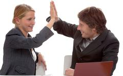 Stock Photo of business cooperation