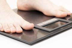 Medicine, healthcare and all things related. Weight scales. Stock Photos