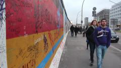 Berlin wall Stock Footage