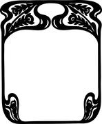 Art Nouveau Frame Stock Illustration