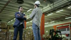 Stock Video Footage of 1of19 People working in warehouse, workers in industry