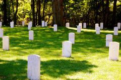 Johnson island confederate cemetery Stock Photos