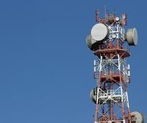 Repeaters antennas for mobile communication and television signals Stock Photos