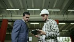 2of19 People working in warehouse, workers in industry - stock footage