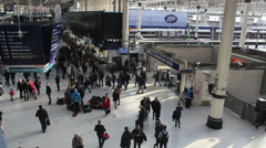 Waterloo station Stock Footage