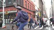Stock Video Footage of Man on Bicycle