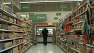 Stock Video Footage of Woman shopping cheese section grocery store POV HD 1122