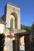 Stock Photo of old church of saint-amand-of-coly