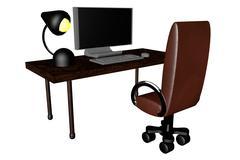 Stock Illustration of desk