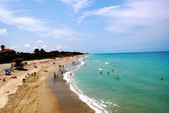 jupiter florida people on beach - stock photo