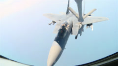Persian Gulf Air Refueling Mission of F-15E Stike Eagles Stock Footage